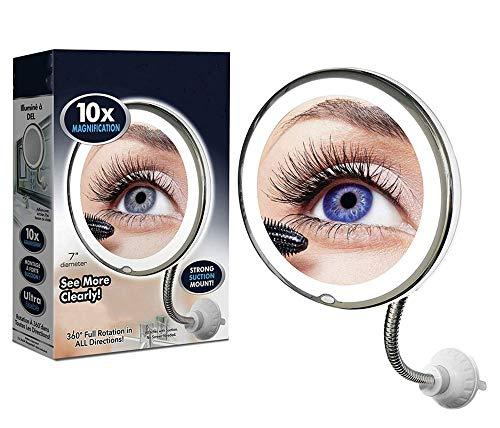 My Flexible Mirror,Espejo de maquillaje giratorio con espejo de aumento con...
