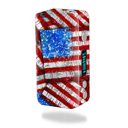 MightySkins Skin Compatible with Smok Koopor Plus 200W – Flag Drips | Protective, Durable, and Unique Vinyl Decal wrap Cover | Easy to Apply, Remove, and Change Styles | Made in The USA
