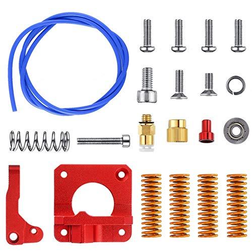 JIAN LIN 3D Printer Extruder Feeder Drive Kit Frame Kit Blue PEFT Tubing Die Spring for Ender 3 Pro for Ender 5 for CR-10/ CCR-10S
