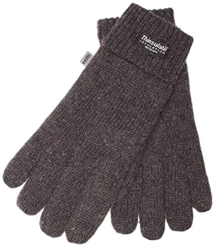 EEM Herren Strick Handschuhe LASSE mit Thinsulate Thermofutter aus Polyester, Strickmaterial aus 100% Wolle; anthrazit, L/XL