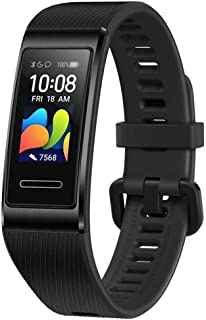 HuaWei Band 4 Pro - Smart Band Fitness Monitor with 0.95 Inch AMOLED Touchscreen, 24/7 Heart Rate Monitor, Indoor Outdoor Pro Tracking, Sleep Monitor, Built-in GPS, 5ATM Waterproof (Black)