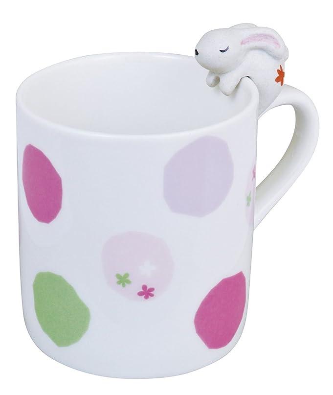 を除くメイン統治するアニマルマグカップ(ウサギ) G-8050 水玉B