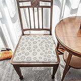 Cojín de asiento para silla, espuma de memoria, tecnología abstracta, conexión círculo negro, cojines de asiento para oficina, hogar o coche sentado
