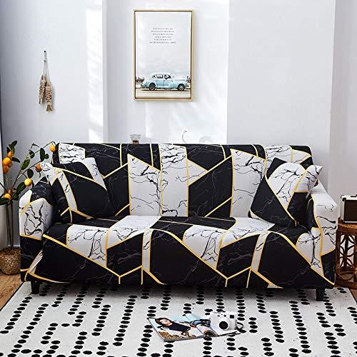 ASCV Fundas de sofá elásticas geométricas para Sala de Estar Funda de sofá Moderna para Silla de sofá de Diferentes Formas Funda de sofá Estilo L A6 4 plazas
