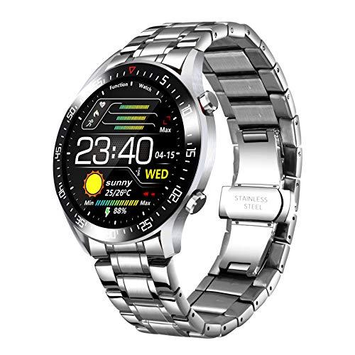 Reloj Inteligente,LIGE Clásico Moda Impermeable Deportivo Fitness Hombres Reloj con Frecuencia Cardíaca, presión Arterial Oxígeno Sangre Monitor Smart Watch(para Apple Android)
