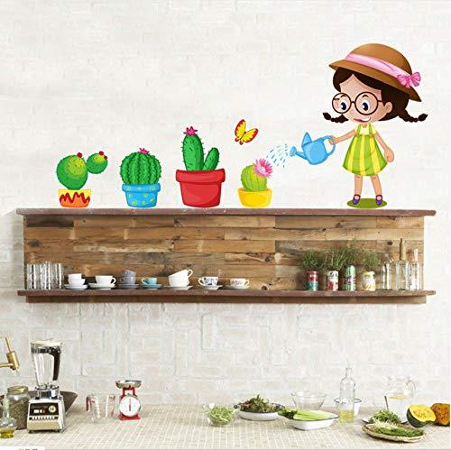 Mddjj muurstickers, vinyl, in pan, meisjes, voor kinderkamer, decoratie, kunststickers, 3D, knutselen, behang, decoratie