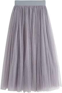 Bohemian Style Elastic Waist Band Cotton Linen Long Maxi Skirt Women's Dress