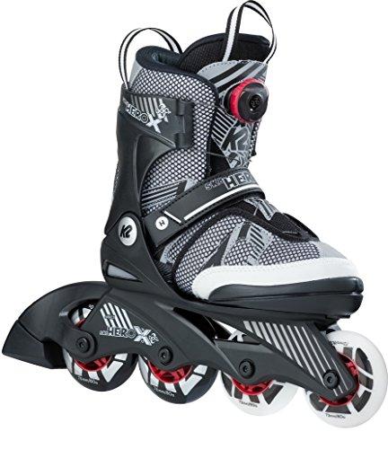 K2 Jungen Inline Skates SK8 Hero x Boa - Schwarz-Grau-Weiß - S (29-34 EU; 10-1 UK; 11-2 US) - 30B0209.1.1.S