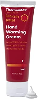 ThermoMax Hot, Boston Topical's Natural Hand Warming Cream, Soothes Foot Discomfort, Moisturizes Dry Skin, Absorbs Quickly – Clinically Tested Ingredients (4oz Tube)