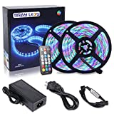 10M Tiras LED RGB 3528 600 Leds, IP65 Impermeable Multicolor Tira LED de Luces LED Kit Completo (Sin color blanco)