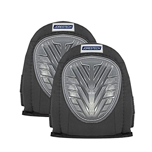 JORESTECH Comfort Gel Protective Kneepads Non Marking for Flooring Contractor and Gardening Memory Foam Lined