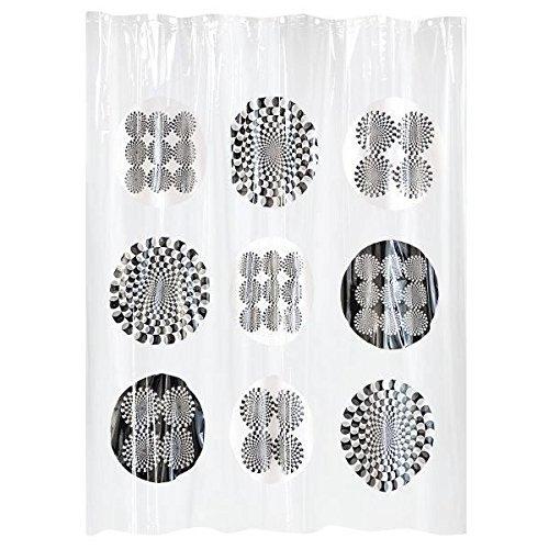 GELCO Duschvorhang 'ILLUSION' 180x200 cm - diverse Motive (grau/schwarz/weiß) auf durchsichtigem Hintergr& - GELCO DESIGN