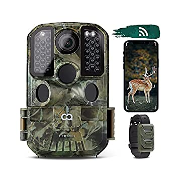 WiFi Trail Camera COOAU 24MP 1296P Hunting Game Trail Cam with No Glow Night Vision Motion Activated IP66 Waterproof and 940nm IR LEDs for Outdoor Wildlife Monitoring and Hunting Game