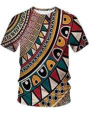 Camisetas para hombre con cuello redondo, moda casual, estampadas, manga corta, cuello redondo.