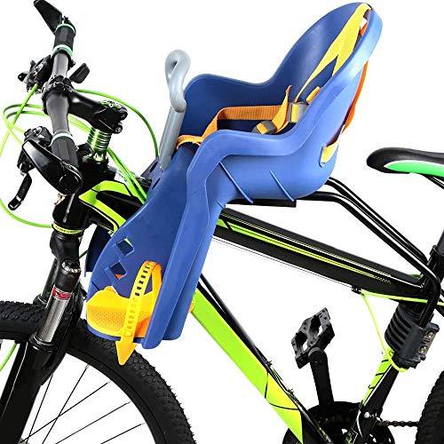 DKZK Kinderfahrradsitz, Faltrad Mountainbike Fahrrad Kindersicherheitssitz Baby Fahrrad Elektroautositz Mit Pedal Und Armlehne Vorne Schnellspanner ReitausrüStung