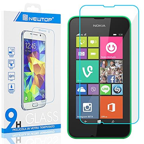 N NEWTOP [1 PEZZO] Pellicola GLASS FILM Compatibile con Nokia Lumia 530, Fina 0.3mm Durezza 9H Vetro Temperato Proteggi Schermo Display Protettiva Anti Urto Graffio Protezione