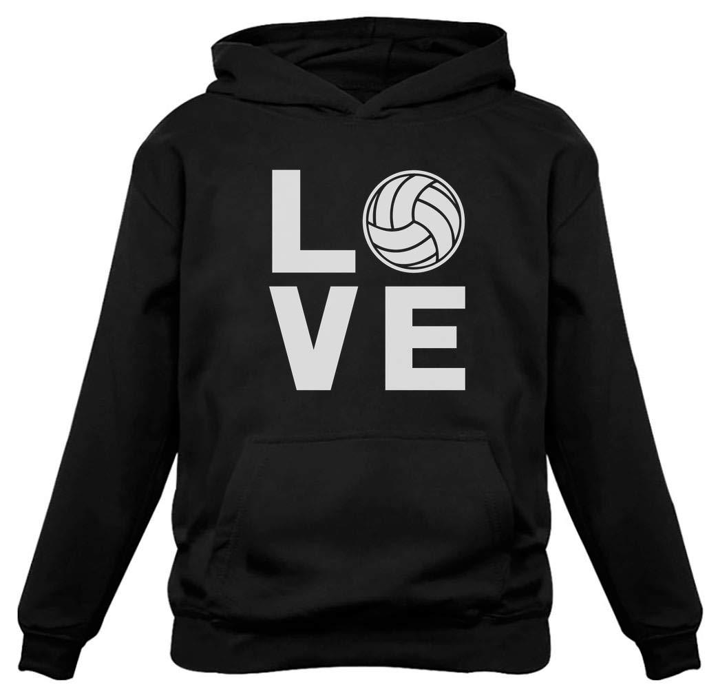 Volleyball Women Hoodie Large Black