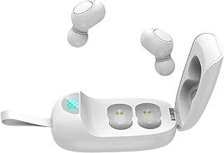 Nobranded JS25 Mini Sport HiFi Bluetooth-hörlurar hörlurar headset med laddningsfodral – vit
