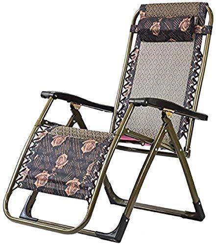 Recliner schommelstoel, klapstoel verstelbare recliner, Zero Gravity Lounge Chair, draagbare dutje vrijetijdsbank, voor buitenterras (Wave)