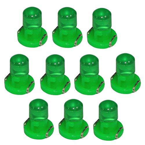 AERZETIX: 10 x Bombillas T3 LED 12V de salpicadero luz verde