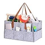 Diaper Caddy Sac de Rangement Pliable, Feutre Enfant Toys Organisation Tote Organiseur Sac de Rangement Chambre d'enfant Lingettes pour bébé