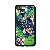 Naruto Kakashi Theme Case for iPhone 7 Plus / 8 Plus (5.5 Inch) Comic TPU Silicone Gel Edge + PC Bumper Case Skin Protective Custom Designed Printed Phone Protector Full Protection Cartoon Cover