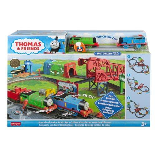 Il Trenino Thomas - Mille Aventure a Sodor, Pista con Locomotoras motorizadas Juguete para niños de 3 años GVL59