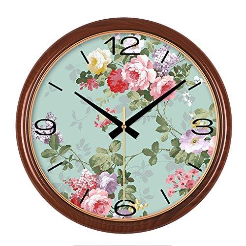 LCSHAN Reloj de Pared Sala de Estar Dormitorio escaneo silencioso Retro Reloj...