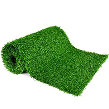 COYMOS Faux Grass Table Runner for Table Decoration Grass Rug Spring Summer Party Decor 14 Inch x 72 Inch