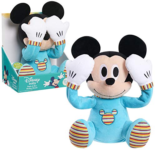Disney Baby Peek-A-Boo Plush, Mickey Mouse, Multi-Color