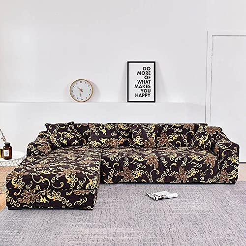 WXQY L-Form muss 2 Stück Sofabezug, elastische Sofa Handtuch Sesselbezug, für Ecksofa Möbelschutzbezug A8 2-Sitzer bestellen