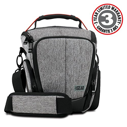 USA Gear Binocular Case w/Soft Cushioned Interior, Sturdy Handles Shoulder Strap Zippered Storage PocketsWith Accessory Bag - Works Bushnell Falcon, Powerview, SkyMaster More