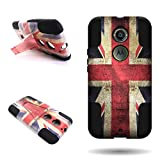 Moto X (2nd Gen) Case, by CoverON Shock Absorption High Impact Ressitant Hybrid Protection Case Cover for Motorola Moto X (2nd Generation, 2014) XT1097 - UK Flag Design