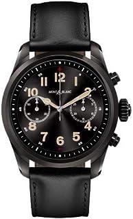 Montblanc - Reloj Montblanc Summit 2 Smartwatch 119438 Acero Negro Piel Negra