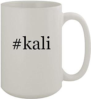 #kali - 15oz Ceramic White Coffee Mug, White