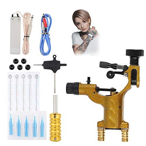 Máquina de Tatuaje kit completo de tatuaje profesional Kits de pistola de motor rotatorio con agujas Agarre Pedal Herramientas para artistas