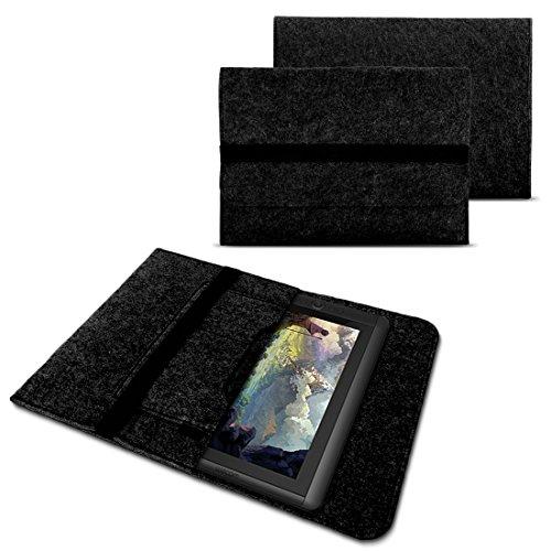 NAUC Sleeve Hülle für Wacom Cintiq 13 HD Grafiktablett Tasche Stifttablett 13,3 Zoll Cover strapazierfähiger Filz mit Innentaschen und sicherem Verschluss Grau, Farbe:Dunkelgrau