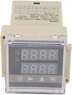 Digital Time Relay, Walfront ZN48 AC 220V Digital Time Relay Counter Time Delay Timer Switch Multifunction Rotating Speed Frequency Meter