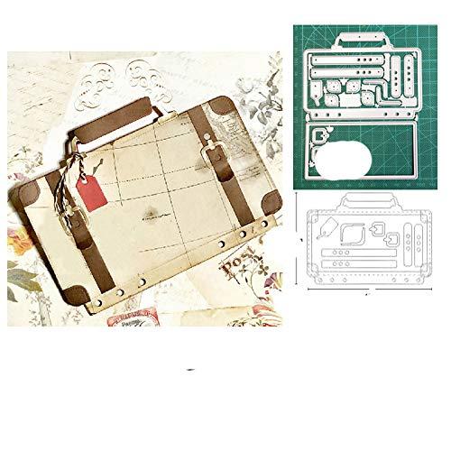 Troqueles artesanales troqueles de corte de metal troquelado troquelado maleta bolso caja estuche troqueles cuchillo de papel molde hoja perforadora steencils troqueles moteados