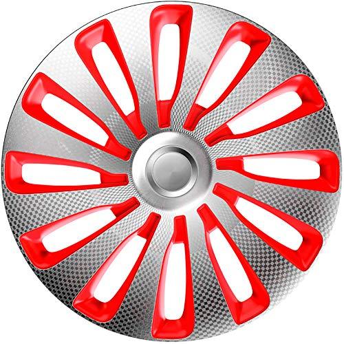J-Tec J17533 Satz Radzierblenden Sepang 17-Zoll Silber/Rot/Karbon-Optik, inch