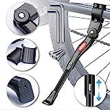 WATSABRO Fahrradständer Einstellbare Universal Seiten-Ständer Unterstützung für Fahrrad Mountainbike Rennrad mit Raddurchmesser 24-28 Zoll
