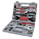 Ruisyi Juego de 44 herramientas para reparación de bicicletas, kit de accesorios para mantenimiento de bicicleta, cadena de bicicleta, extractor de extracción para todos los tipos de bicicletas