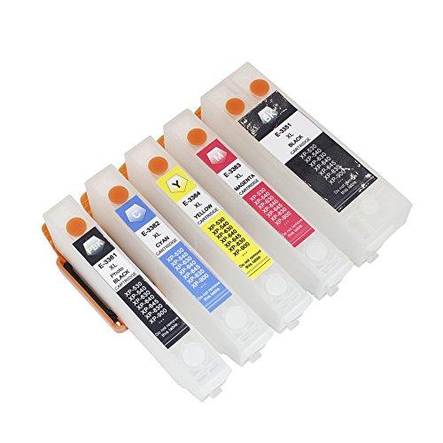 Inkway 5 PK alta qualità vuote ricaricabili cartucce di inchiostro compatibili (auto reset) per Epson xp-530 xp-630 xp-640 645 830 stampanti sostituisce 33xl arancione Seris cartucce di inchiostro