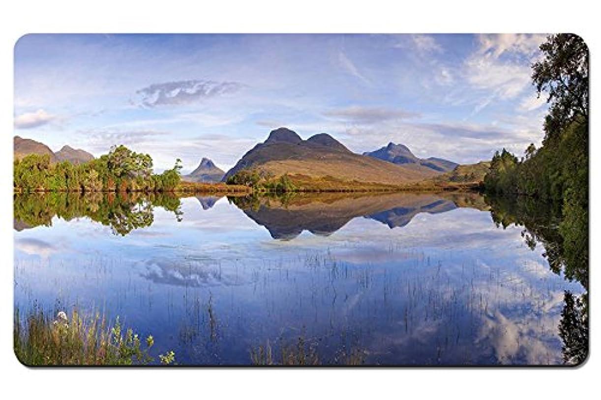 ギャザーグレートオークスローガンスコットランド、自然の風景、湖、山 パターンカスタムの マウスパッド 旅行 風景 景色 デスクマット 大 (60cmx35cm)
