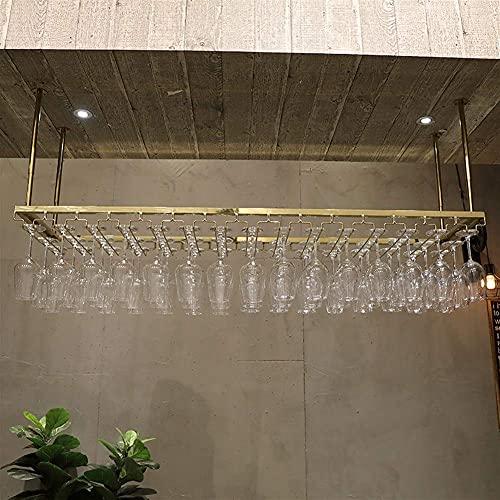Muebles para el hogar Estante para vinos Decoración Vino Copas de copa de champán Soporte de acero inoxidable para vajilla de acero inoxidable para el hogar Cocina Bar Restaurante (Color: Oro rosa
