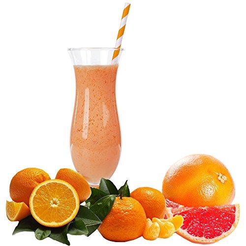 Pampelmuse Orange Mandarine Molkepulver Luxofit mit L-Carnitin Protein angereichert Wellnessdrink Aspartamfrei Molke (Pampelmuse Orange Mandarine, 1 kg)