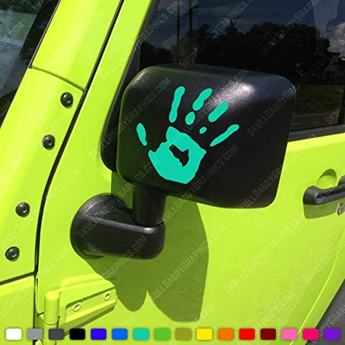 Two Wave Stickers Compatible with Jeep Wrangler JL JT JK TJ YJ CJ (x2) Decals Pair Left & Right (Pink)