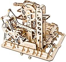 ROKR Marble Run 3D Wooden Puzzle Roller Coaster Mechanical Model Self Craft Deco Education Gift