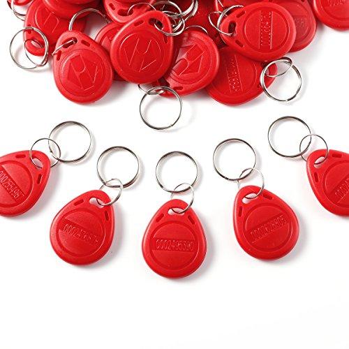 Rot RFID Schlüsselanhaenger Transponder Zutrittskontrolle KeyFob 125Khz 50tlg