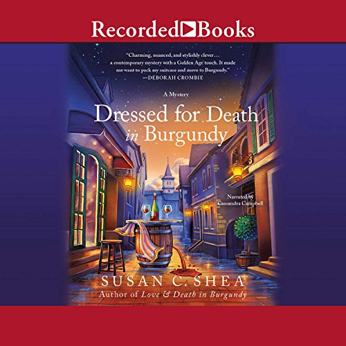 Dressed for Death in Burgundy audiobook cover art